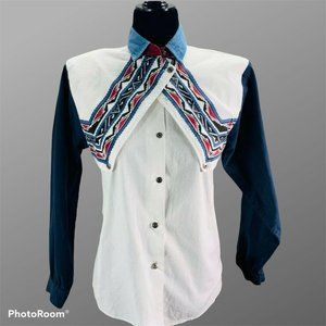 Vintage Roper Western Cowgirl Rodeo Shirt Small